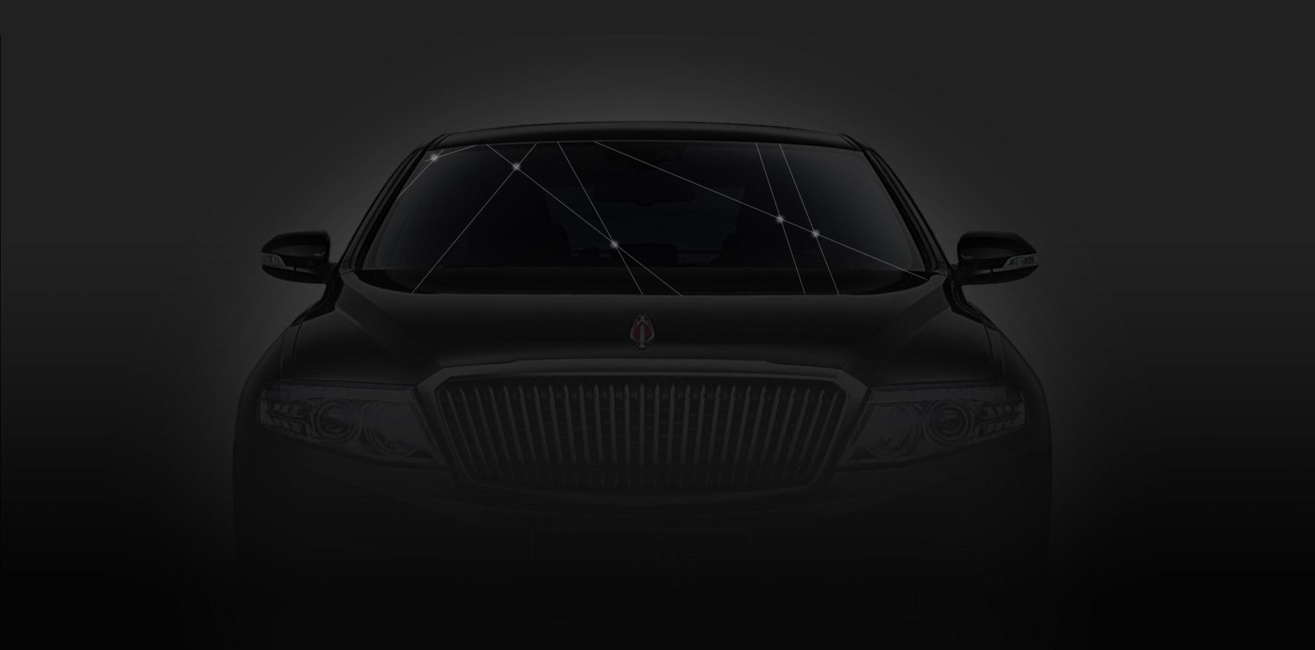 PH vitres d'autos - slide automobile noir